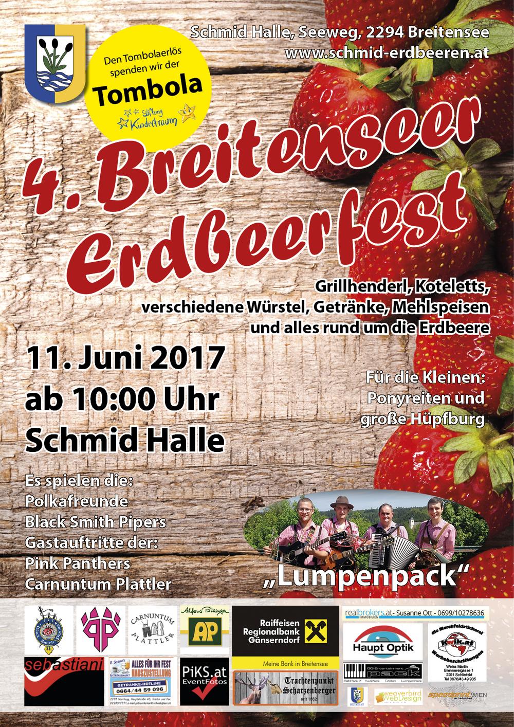 Erdbeeren - Erdbeerfest 2017